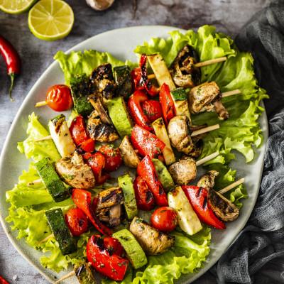 Grillitud taipärased köögiviljavardad